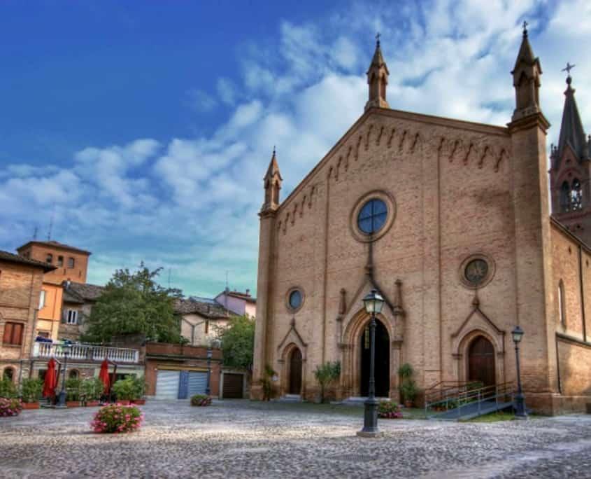 Vista panoramica del borgo antico Castelvetro di Modena