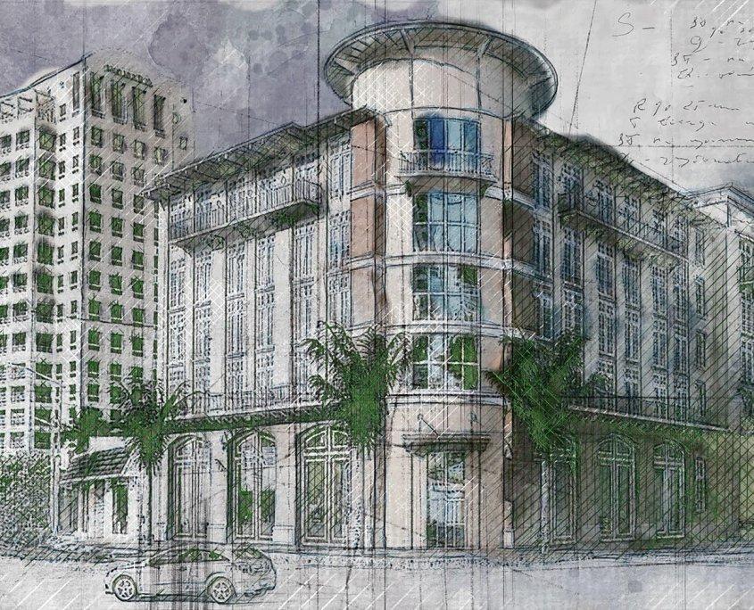 Immagine di un edificio stilizzata