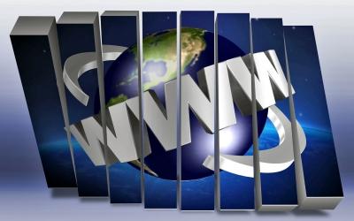 Immagine stilizzata del simbolo di internet, World Wide Web