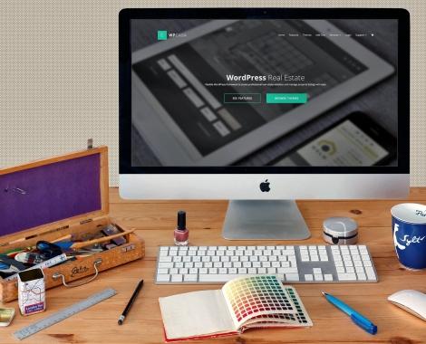 Vista da un mac di un sito web per agenzie immobiliari